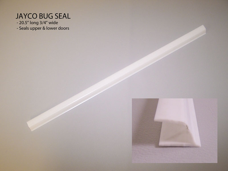 "Jayco Door Seal Bug Wipe White 3/4"" 20-1/2""Pc"