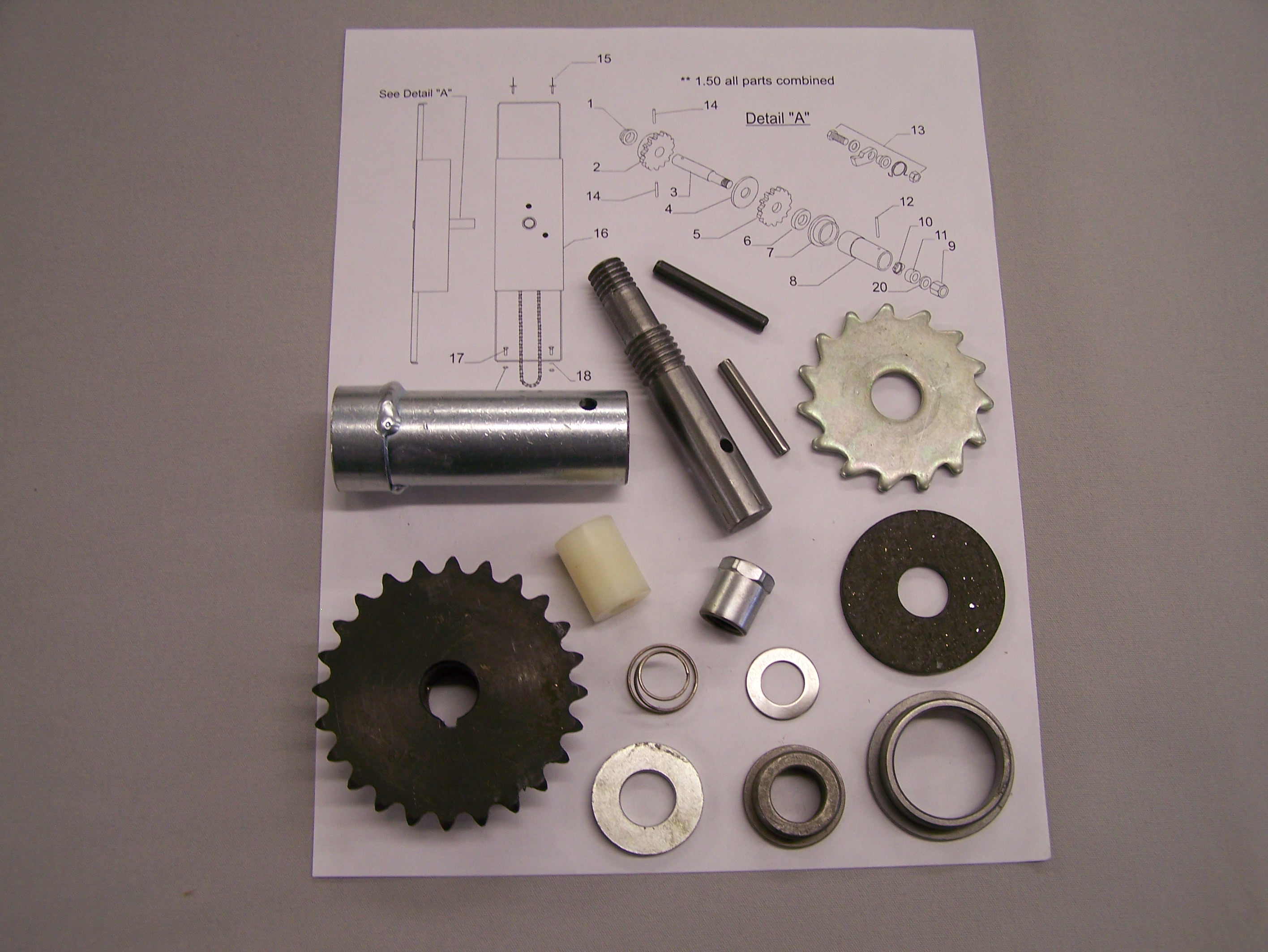 Coleman Rebuild Kit - Upper Crank Assembly